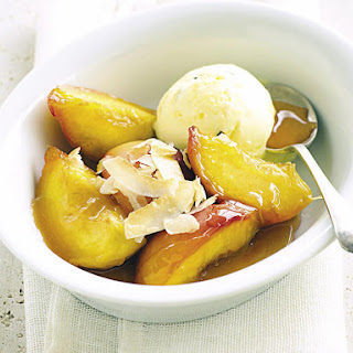 Caramelized Peaches with Coconut.