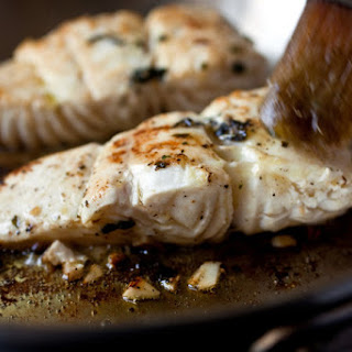 Pan-Seared Marinated Halibut Fillets.