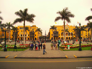 Photo: #016-Lima. La Plaza Mayor (ex-Plaza de Armas).