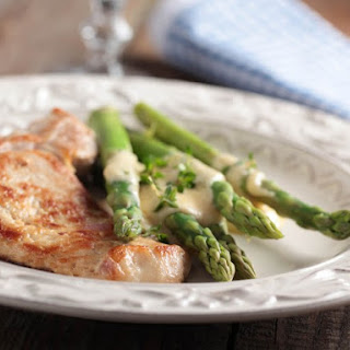 Fresh Mozzarella With Roasted Asparagus Spears And Parmesan