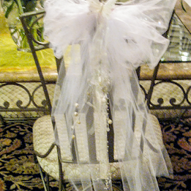 Not just for the Bride by Myra Brizendine Wilson - Wedding Details ( table setting, veil, table decoration, chair, reception )