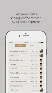 Allpress Café Finder- screenshot thumbnail