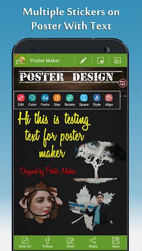Foto do Poster Maker - Fancy Text Art and Photo Art