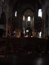 Photo: The church interior is in a mixture of styles, reflecting its extended construction.