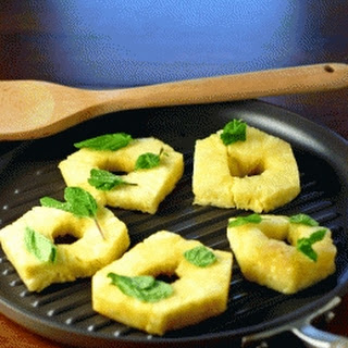 Grilled Pineapple with Honey & Mint