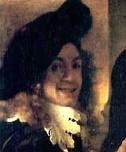 Foto: Johannes[1] Vermeer (gedoopt Delft, 31 oktober 1632 - begraven aldaar, 15 december 1675) is een van de beroemdste Nederlandse kunstschilders uit de Gouden Eeuw. Hij werd in de 19e eeuw de Sfinx van Delft genoemd omdat er zo weinig details over zijn leven bekend waren. Vermeer had bovendien een voorkeur voor tijdloze, ingetogen momenten. Hij blijft raadselachtig vanwege de onnavolgbare kleurstelling en het verbijsterende lichtgehalte. Vermeers schilderijen, meestal genrestukken en een paar historiestukken, allegorieën en stadsgezichten, onderscheiden zich door een subtiel kleurgebruik en een ideale compositie. Hij gebruikte soms dure pigmenten en had een grote voorkeur voor korenbloemblauw en loodtingeel.