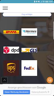 Sendungsverfolgung - DHL, Hermes, DPD, GSL, UPS - náhled