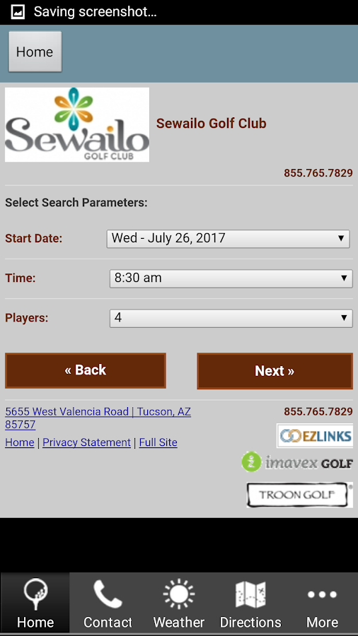 Sewailo Golf Club- screenshot