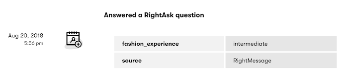 How RightAsk sends customer info into Drip