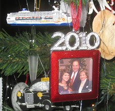 Photo: This year's dated ornament. Note the small Norwegian Sun cruise ship ornament just above it...