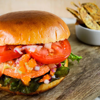 Salmon Burgers with Apricot Relish