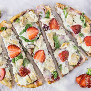 Chicken, Spinach & Strawberry Pizza {with Honey Whipped Ricotta}.