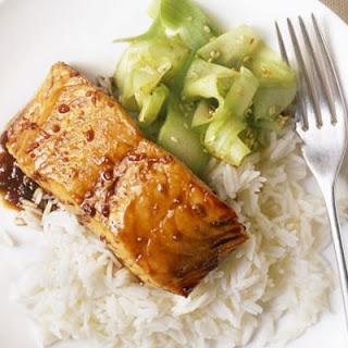 Grilled Salmon Recipe with Teriyaki Sauce