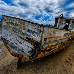Ship aground by Craig Turner - Transportation Boats ( out of water, ship, boat )