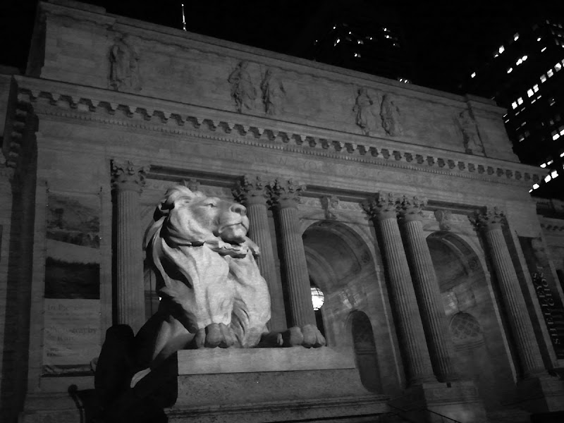 Photo: NYPL Aslan at Night