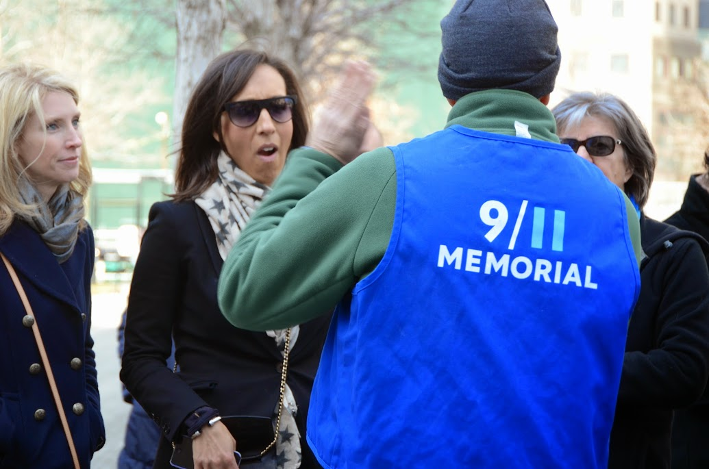 A guide at 9/11 Memorial