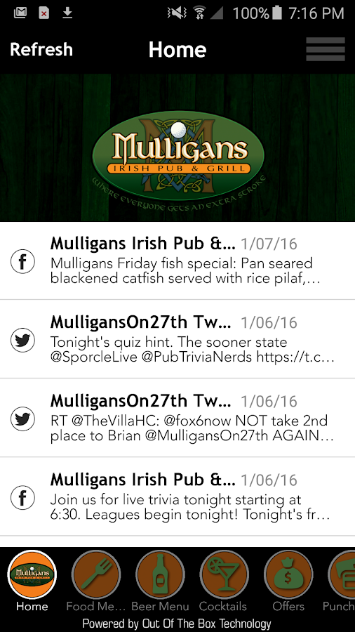 Mulligans Irish Pub & Grill- screenshot