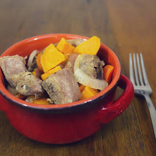 SLOW COOKER VEAL STEW.