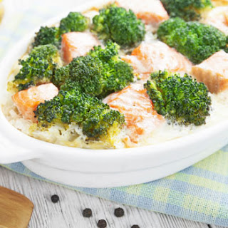 Salmon & Broccoli Casserole.
