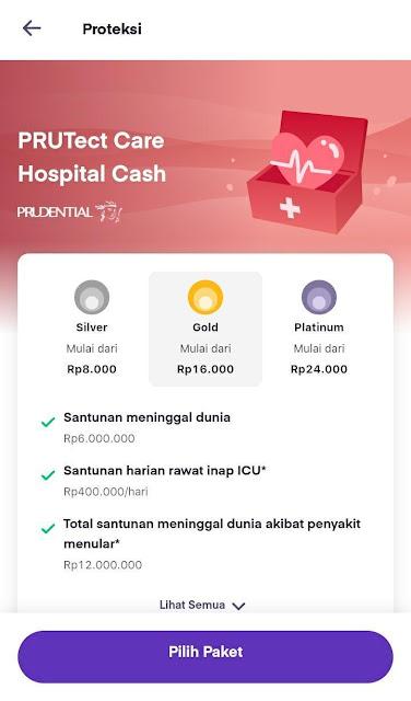 santunan PRUTect Care Hospital Cash