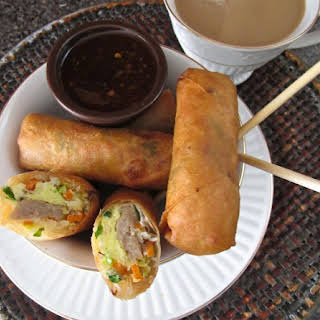 Egg and Sausage Brunch Spring Rolls.