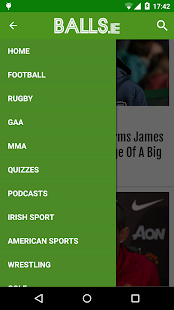 Balls.ie, Just Brilliant Sport- screenshot thumbnail