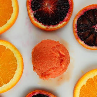 Blood Orange Sorbet.