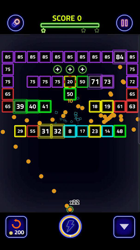 Brick Breaker Glow modavailable screenshots 4