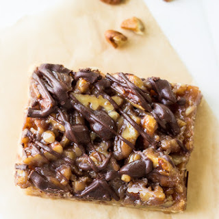 Chocolate Drizzled Maple Pecan Bars Recipe