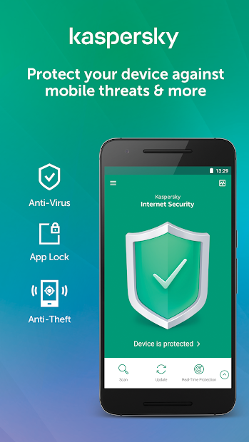 Kaspersky Mobile Antivirus: AppLock & Web Security Android App Screenshot