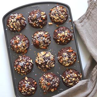 Dark Chocolate Almond Chia Muffins.