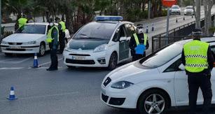 Control de tráfico en Vícar.