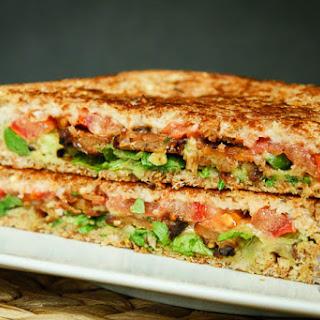 Crispy Tempeh Arugula Sandwich with Garlic Truffle Aioli