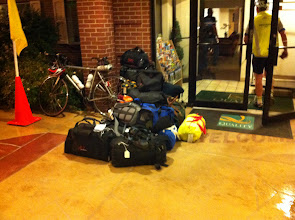 Photo: July/9th morning before 4:00AM. These are drop bags,