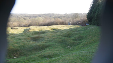 Photo: Remains of trenches