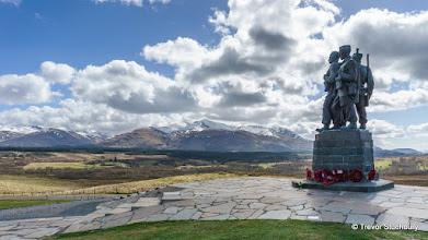 Photo: Carn Mor Dearg and Ben Nevis from Commando Memorial, Spean Bridge
