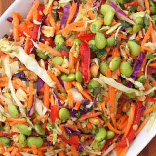 Asian Slaw with Ginger Peanut Dressing