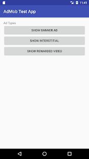 AdMob Test App - náhled