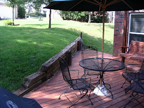 Photo: More of the deck and yard