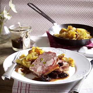 Pork and Chicken Terrine with Cognac Prunes.