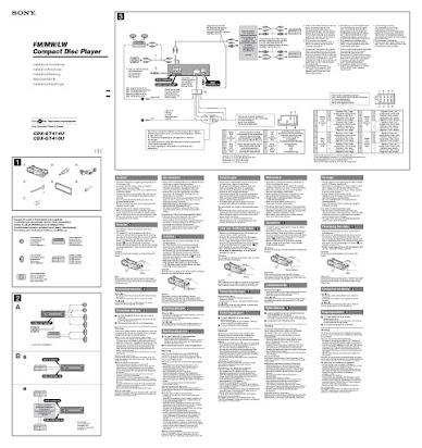 Sony Cdx Gt410u Service Manual
