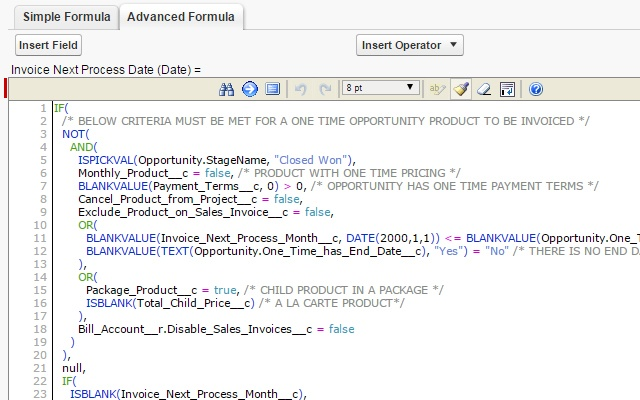 Salesforce.com Enhanced Formula Editor