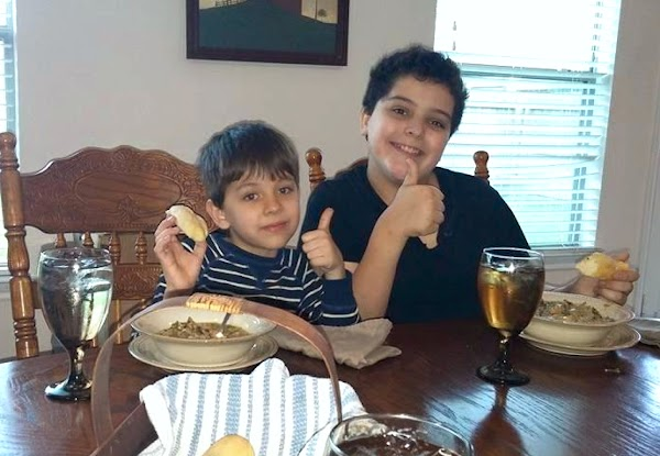 My boys giving mommy the THUMBS up to go ahead and post to JAP!!!!