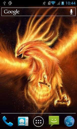 Huge fiery bird LWP