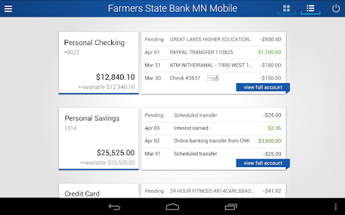 Farmers State Bank MN Mobile- screenshot thumbnail