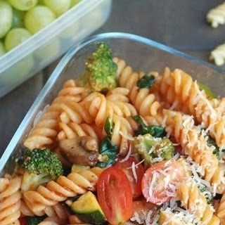 Pasta with vegetables and homemade marinara sauce #Recipe