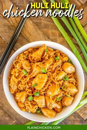 Huli Huli Chicken Noodles - Plain Chicken