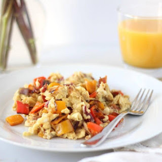 Scrambled Eggs with Bacon and Sweet Peppers Recipe