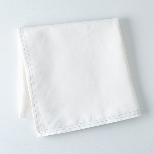 White Linen Tablecloth with Monogram Option