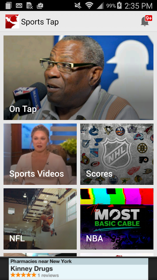 Sports Tap: Games & Scores app- screenshot